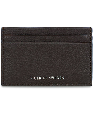 Tiger of Sweden Ballon Grain Leather Card Holder Dark Brown  i gruppen Assesoarer / Lommebøker hos Care of Carl (16639310)
