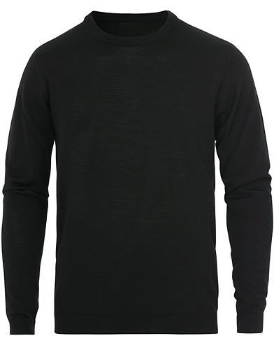 Norse Projects Sigfred Light Merino Crew Neck Black i gruppen Klær / Gensere / Pullovere rund hals hos Care of Carl (16644311r)