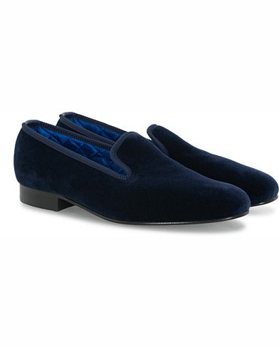 Bowhill & Elliott Albert Plain Pumps Navy i gruppen Sko / Loafers hos Care of Carl (16646711r)