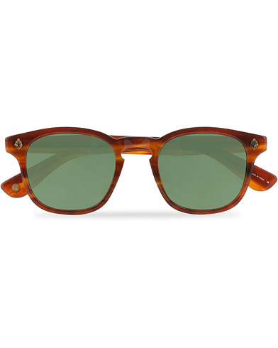 Garrett Leight Ace Sunglasses Honey Amber Tortoise/Pure Green  i gruppen Assesoarer / Solbriller hos Care of Carl (16649610)