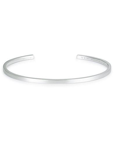 LE GRAMME Ribbon Bracelet Brushed Sterling Silver 7g