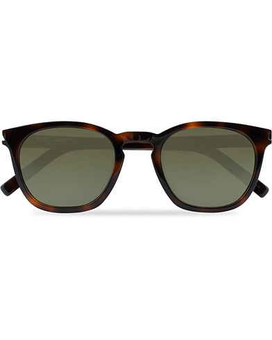 Saint Laurent SL 28 Sunglasses Havana/Green  i gruppen Assesoarer / Solbriller hos Care of Carl (16665410)