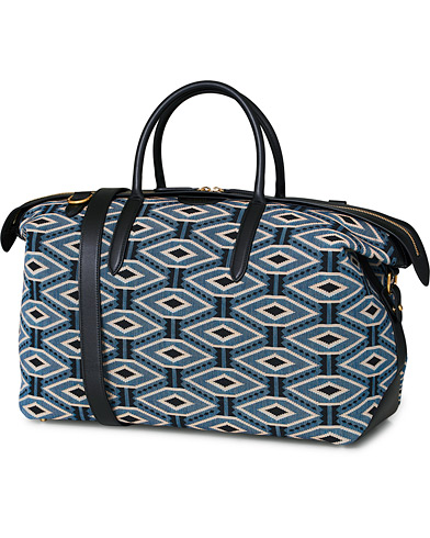 Smythson Zip Guard Holdall Weekendbag Jacquard  i gruppen Assesoarer / Vesker hos Care of Carl (16668310)