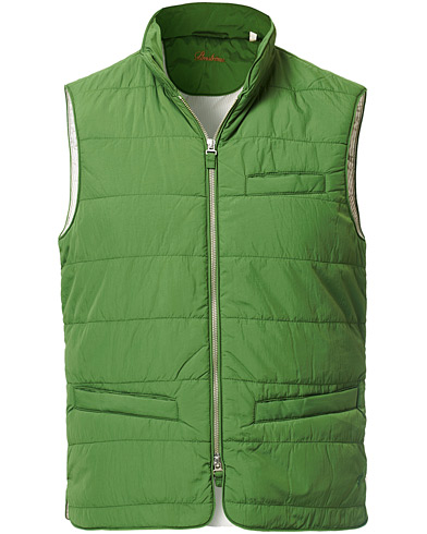 Stenströms Soft Quilted Nylon Vest Green