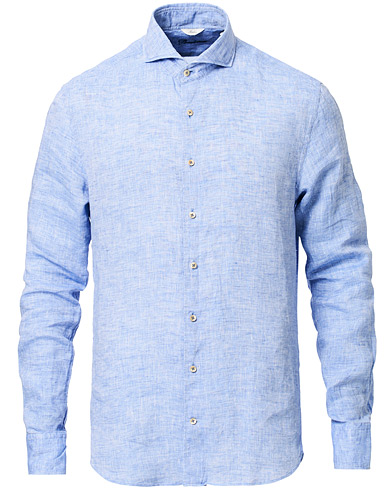 Stenströms Slimline Fullspread Linen Shirt Light Blue i gruppen Klær / Skjorter / Casual hos Care of Carl (16676011r)