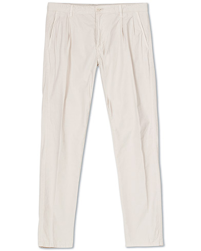 Aspesi Pleated Cotton Slacks Beige