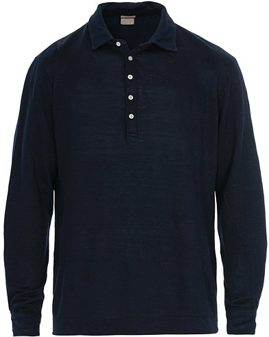 Massimo Alba Raya Long Sleeve Polo Navy