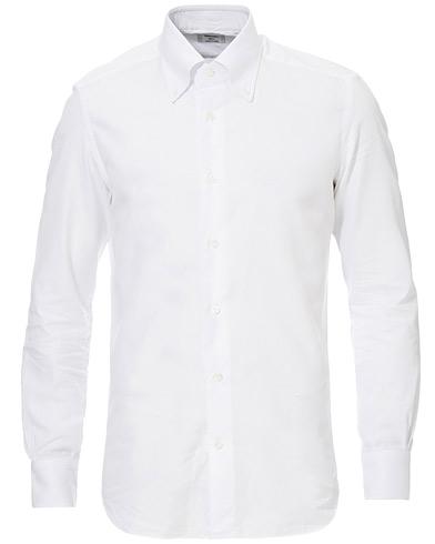 Mazzarelli Soft Oxford Button Down Shirt White