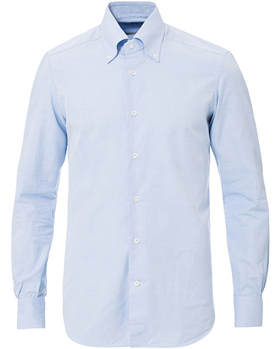 Mazzarelli Soft Oxford Button Down Shirt Light Blue