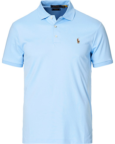 Polo Ralph Lauren Slim Fit Pima Cotton Polo Elite Blue i gruppen Klær / Pikéer / Kortermet piké hos Care of Carl (16701811r)
