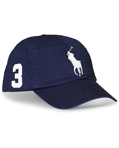 Polo Ralph Lauren Big Pony Cap Newport Navy  i gruppen Assesoarer / Hatter & capser / Caps hos Care of Carl (16702010)