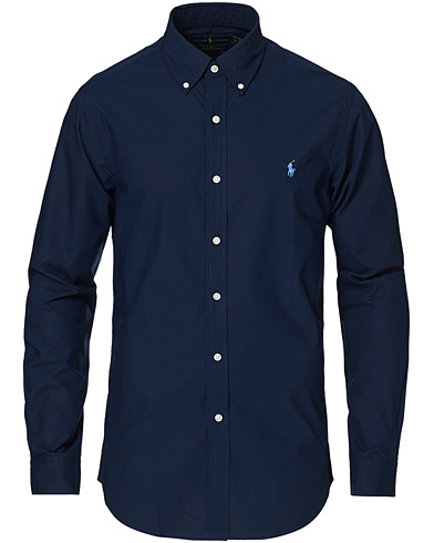 Polo Ralph Lauren Slim Fit Shirt Poplin Newport Navy i gruppen Klær / Skjorter / Casual hos Care of Carl (16702311r)