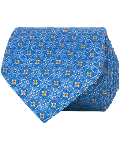 Canali Silk Micro Dotted 8 cm Tie Light Blue  i gruppen Assesoarer / Slips hos Care of Carl (16722510)