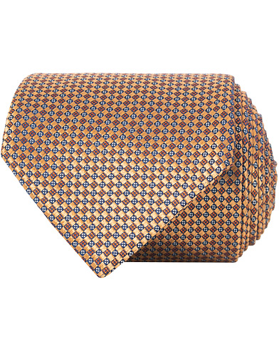 Canali Silk Micro Texture 8 cm Tie Orange