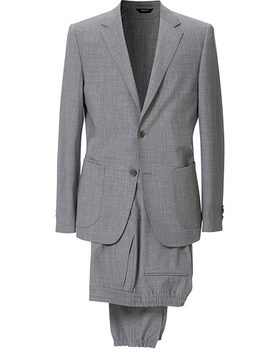 Z Zegna Techmerino Washable Wool Suit Light Grey