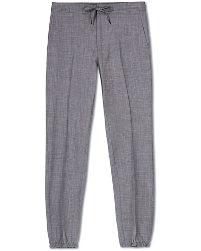 Z Zegna Techmerino Washable Drawstring Trousers Light Grey