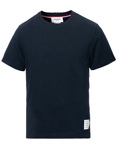 Thom Browne Side Slit Short Sleeve T-Shirt Navy