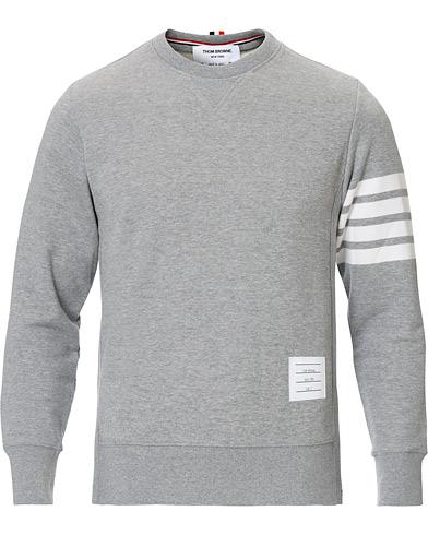Thom Browne 4 Bar Loopback Sweatshirt Light Grey