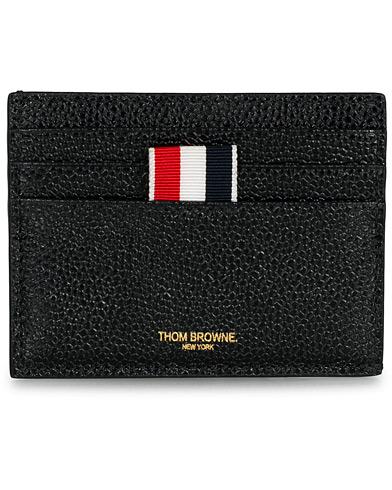Thom Browne Pebble Grain Credit Card Holder Black Calf