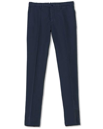 Incotex Slim Fit Chinolino Trousers Navy