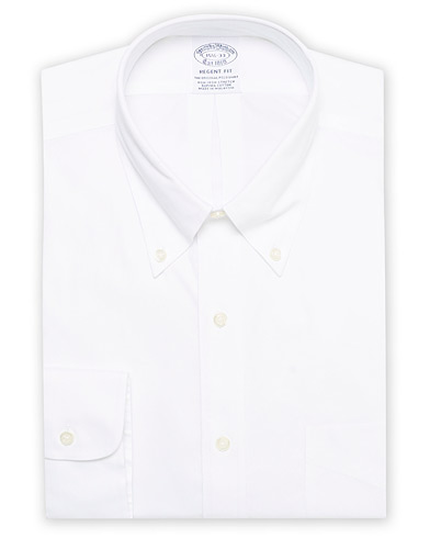 Brooks Brothers Regent Fit Non Iron Oxford Shirt White