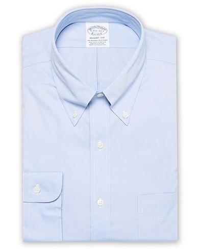Brooks Brothers Regent Fit Non Iron Oxford Shirt Light Blue