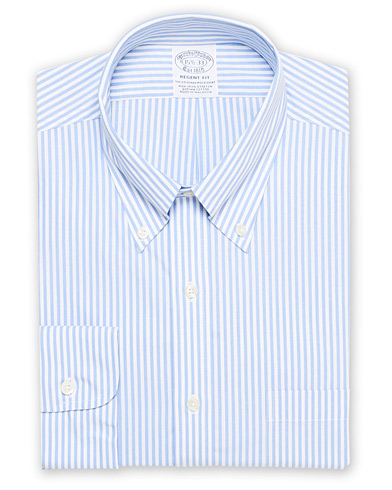 Brooks Brothers Regent Fit Non Iron Stripe Shirt Light Blue i gruppen Klær / Skjorter / Formelle hos Care of Carl (16745511r)