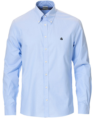 Brooks Brothers Milano Fit Non Iron Button Down Shirt Light Blue i gruppen Klær / Skjorter / Casual hos Care of Carl (16745811r)