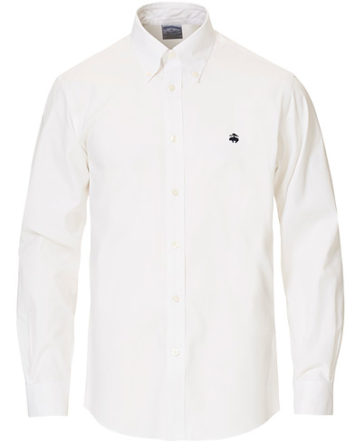 Brooks Brothers Regent Fit Non Iron Button Down Shirt White i gruppen Klær / Skjorter / Casual hos Care of Carl (16746011r)