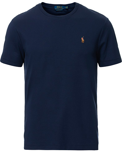 Polo Ralph Lauren Luxury Pima Cotton Crew Neck Tee French Navy i gruppen Klær / T-Shirts / Kortermede t-shirts hos Care of Carl (16762911r)