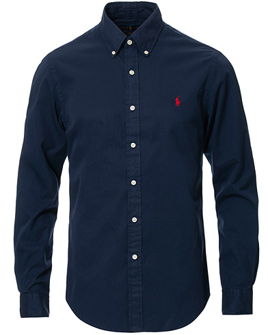Polo Ralph Lauren Slim Fit Featherweight Twill Shirt Cruise Navy i gruppen Klær / Skjorter / Casual hos Care of Carl (16765411r)