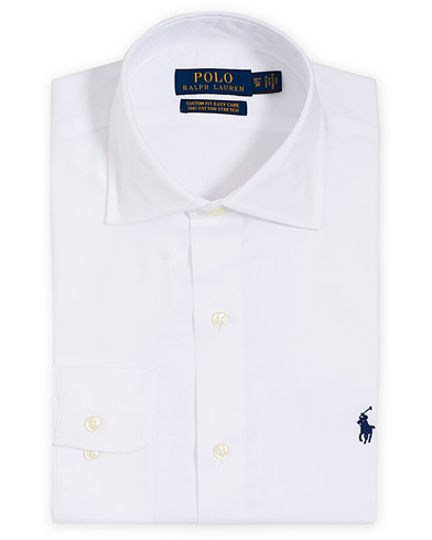 Polo Ralph Lauren Custom Fit Cotton Stretch Cut Away Shirt White i gruppen Klær / Skjorter / Formelle hos Care of Carl (16768111r)