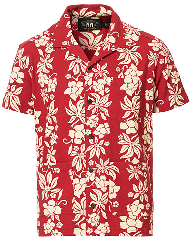 RRL Vintage Hawaiian Camp Shirt Bermuda Red