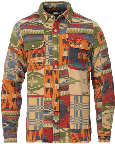 RRL Matlock Patchwork Workshirt Red/Multi