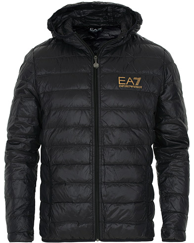 EA7 Train Core Light Down Hoodie Jacket Black/Gold i gruppen Klær / Jakker / Dunjakker hos Care of Carl (16791311r)