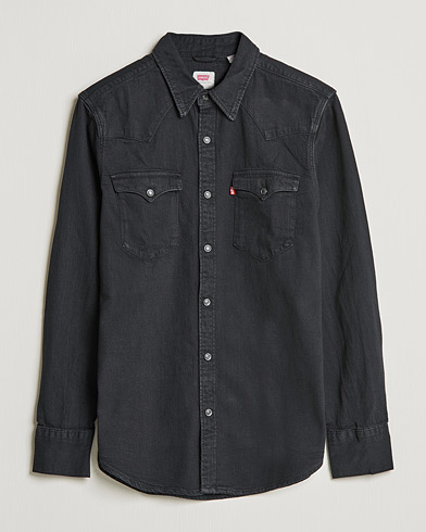 Levi's Barstow Western Denim Shirt Marble Black