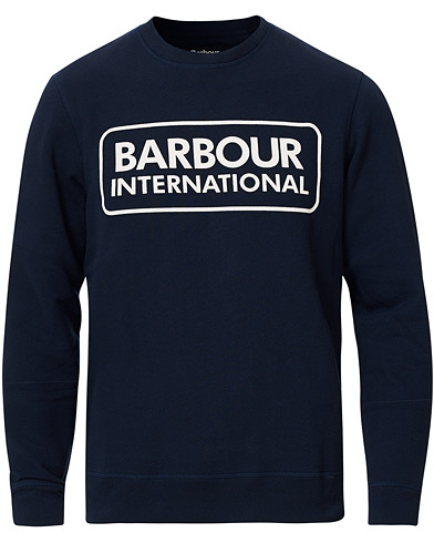 Barbour International Large Logo Sweatshirt Navy i gruppen Klær / Gensere / Sweatshirts hos Care of Carl (16844711r)