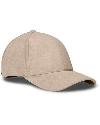 Varsity Alcantara Baseball Cap Stone Beige