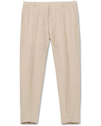 Tiger of Sweden Cone Linen Suit Trousers Irish Cream