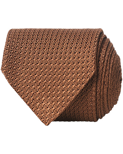 Amanda Christensen Silk Grenadine 8 cm Tie Chocolate Brown  i gruppen Assesoarer / Slips hos Care of Carl (16938610)