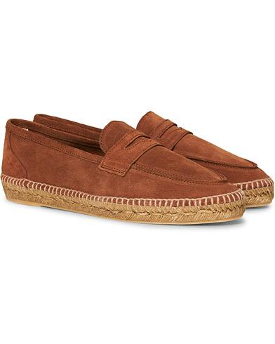 Castañer Nacho Casual Suede Loafers Cuero