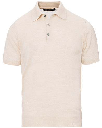 Morris Heritage Short Sleeve Knitted Polo Shirt Off White