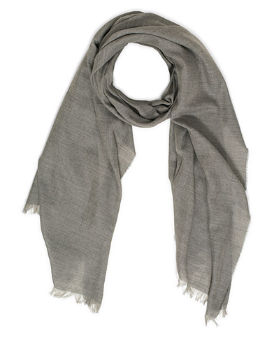 Begg & Co Fiji Cotton/Linen Scarf Smoke