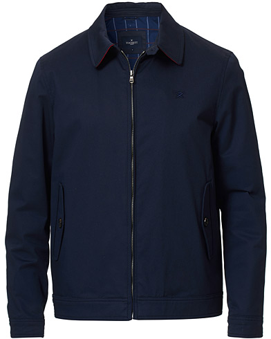 Hackett Cotton Harrington Jacket Navy i gruppen Klær / Jakker / Tynne jakker hos Care of Carl (17025611r)
