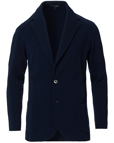 Lardini Knitted Cotton Blazer Navy