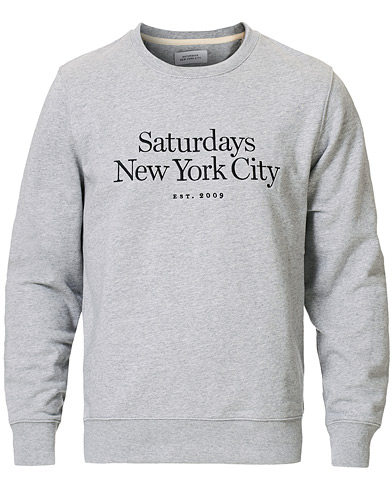 Saturdays NYC Bowery Miller Crew Ash Heather i gruppen Klær / Gensere / Sweatshirts hos Care of Carl (17061711r)