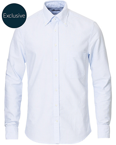 Stenströms Slimline Oxford Shirt Blue/White