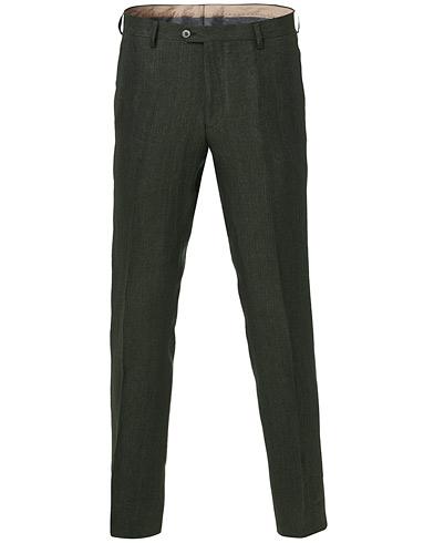 Oscar Jacobson Diego Linen Trousers Green