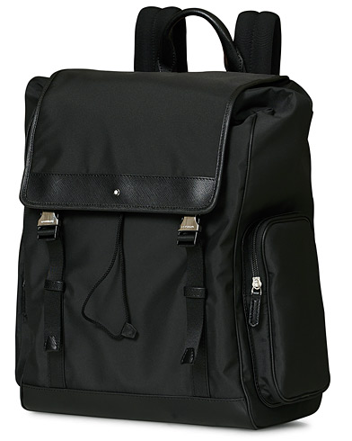 Montblanc Sartorial Jet Backpack Medium Black  i gruppen Assesoarer / Vesker / Ryggsekker hos Care of Carl (17138010)