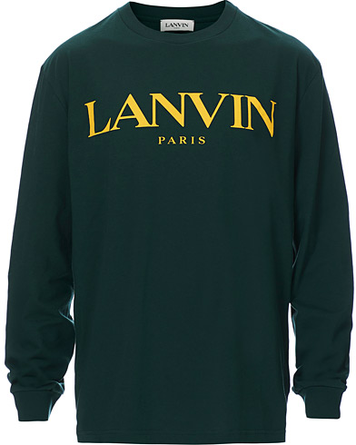 Lanvin Logo Light Sweatshirt Green i gruppen Klær / Gensere / Sweatshirts hos Care of Carl (19221011r)